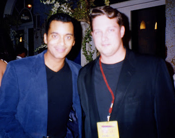 Wayne with pop star Jon Secada at  Bongo's.