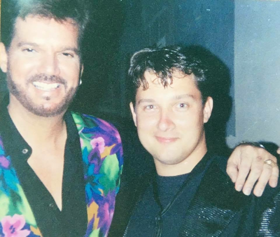 Wayne on tour with Cuban pop star Willy Chirino.